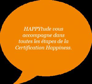 bulle de texte orange sur HAPPYtude