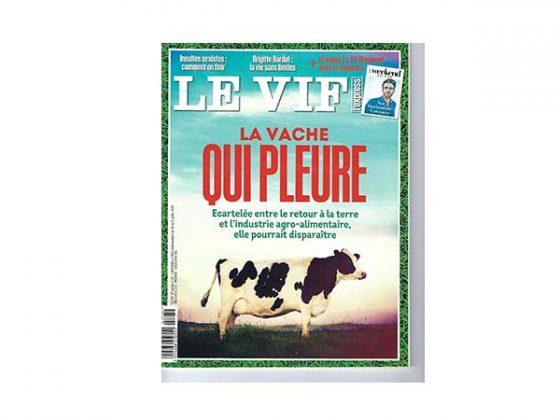 """couverture de Le vif """"la vache qui pleure"""""""